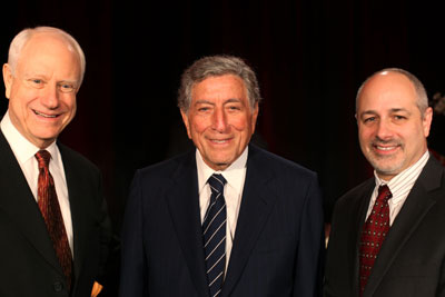 Jim Herbert, CEO of First Republic Bank, Tony Bennett and Cardiology Chief, Jeff Olgin, MD.
